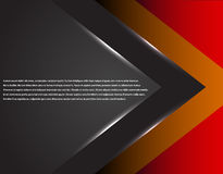 Czerń i czerwona korporacyjna technika paskowaliśmy graficznego projekt linie świecić Kolorowy temat Obraz Stock