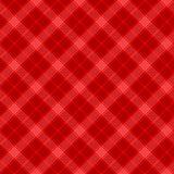Czerń i czerwonej prostej tartan tradycyjnej tkaniny bezszwowy wzór, wektor royalty ilustracja