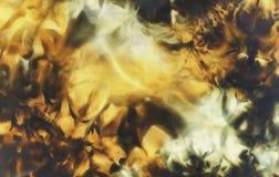 Czerń i ocre z yelow strukturą na Batikowej tkaninie Abstrakcjonistyczni kolorów tła Obraz Royalty Free
