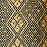 Czerń i złocista Tajlandzka stylowa poduszki tekstura Fotografia Royalty Free