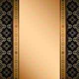 Czerń i złocisty ornament na tle z gradientem Zdjęcie Stock