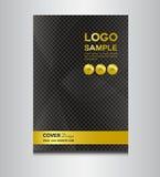 Czerń i złoto pokrywy projekta wektoru ilustracja Obraz Royalty Free
