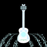 Czerń jest z powrotem gitarą Obrazy Stock