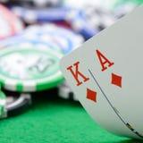 czerń kart kombinaci ręki dźwigarki wygranie Obraz Stock