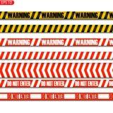 Czerń, kolor żółty i reg ostrożności linie ilustracja wektor
