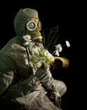 czerń kwitnie żołnierza Fotografia Stock