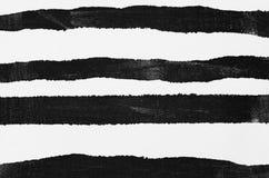 Czerń malujący pasiasty tło Zdjęcie Stock