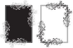 czerń obramia biel ilustracja wektor