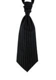 czerń odizolowywający mężczyzna prążka krawata ślub Obrazy Royalty Free