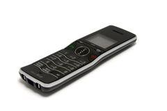 czerń odizolowywający telefon silvercordless fotografia stock