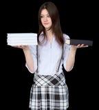 czerń rezerwuje dziewczyn ręki fotografia stock