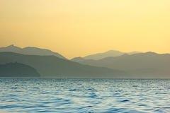 czerń widzii wschód słońca Fotografia Stock