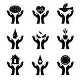 czerń wręcza symbol Obrazy Stock