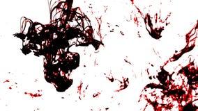 Czerń i czerwoni grungy cieczy zawijasy zdjęcie wideo