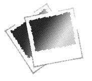 czerń kropkuje wizerunku wektor dwa Obraz Royalty Free