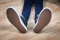 Czerń sportów buty Zdjęcia Royalty Free