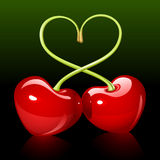 czereśniowa miłość ilustracja wektor
