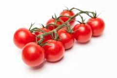 czereśniowi pomidory odizolowywający na bielu Zdjęcie Stock