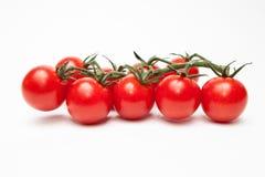 czereśniowi pomidory odizolowywający na bielu Obrazy Royalty Free