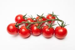 czereśniowi pomidory odizolowywający na bielu Zdjęcia Stock