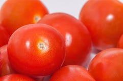 Czereśniowi pomidory - zbliżenie widok Fotografia Stock