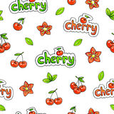 Czereśniowy cukierki na białym tle Dla projekta bezszwowy wzór Animacj ilustracje handwork Zdjęcia Stock