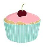 Czereśniowy filiżanka tort Obraz Royalty Free