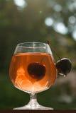 Czereśniowy filiżanki szkło zdjęcie stock