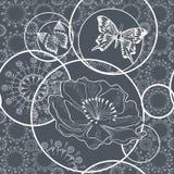 Czereśniowy okwitnięcie kwiaty odłogowania wektor royalty ilustracja