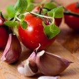 czereśniowi czosnku oregano pomidory Zdjęcie Stock
