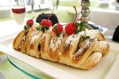 Czereśniowy kulebiak Fotografia Royalty Free