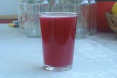 Czereśniowy sok w szkle Zdjęcia Stock