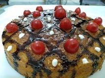 Czereśniowy wanilia tort fotografia royalty free