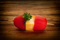 czereśniowi palcowego jedzenia mozzarelli pomidory Zdjęcia Royalty Free