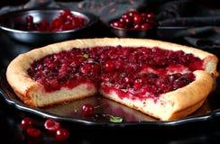 Czereśniowy Drożdżowego ciasta kulebiak Zdjęcie Stock