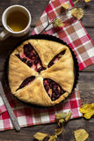 Czereśniowy i jabłczany kulebiak Fotografia Stock