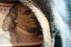Czerepów banknotów USA dolary Zdjęcia Stock