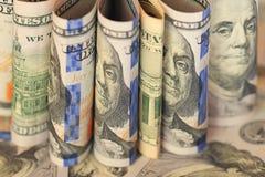 Czerepów banknotów USA dolary Obrazy Royalty Free