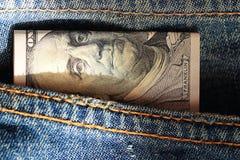 Czerepów banknotów USA dolary Fotografia Stock