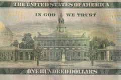 Czerepów banknoty USA Obraz Royalty Free