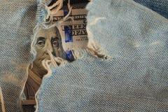 Czerepów banknoty USA Zdjęcie Royalty Free