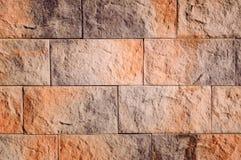 Czerep ściana od dekoracyjnej cegły obraz royalty free