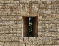 Czerep ściana z cegieł fortyfikacje Zdjęcia Royalty Free