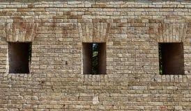 Czerep ściana z cegieł fortyfikacje Obrazy Royalty Free