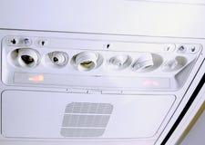 Czerep airfun w wnętrzu nowożytny samolot. fotografia royalty free
