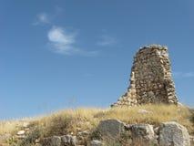 Czerep antyczna ściana w Xanthos Fotografia Stock