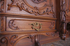 Czerep antyczny rzeźbiący meblarski zbliżenie Obraz Royalty Free