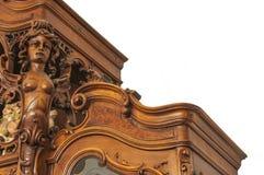 Czerep antyczny rzeźbiący meblarski zbliżenie odizolowywający na a Obrazy Royalty Free
