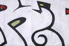 Czerep barwioni uliczni sztuka graffiti obrazy z konturami i podcieniowanie zamkni?ty w g?r? zdjęcie royalty free