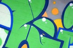 Czerep barwioni uliczni sztuka graffiti obrazy z konturami i podcieniowanie zamkni?ty w g?r? obraz stock